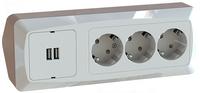 HÖRNBOX USB + 3-V UTTAG