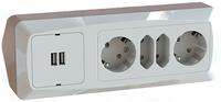 HÖRNBOX USB + 2+2-V UTTAG