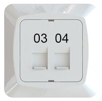 C-PL 2xRJ45 KEYSTONE 03-04