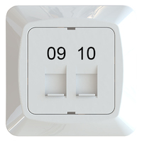 C-PL 2xRJ45 KEYSTONE 09-10