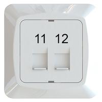C-PL 2xRJ45 KEYSTONE 11-12