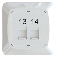 C-PL 2xRJ45 KEYSTONE 13-14