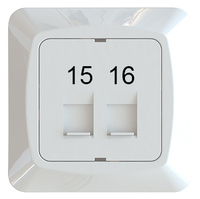 C-PL 2xRJ45 KEYSTONE 15-16