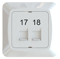 C-PL 2xRJ45 KEYSTONE 17-18