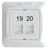 C-PL 2xRJ45 KEYSTONE 19-20