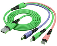 USB-laddkabel 3-in-1 3A 1,8m