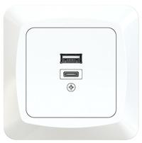 USB-uttag A+C 18W inf ICE