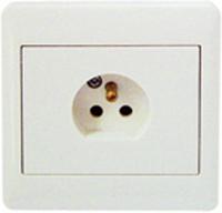 Lamputt 1-väg 84x84 inf vit