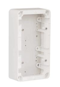 Förhöjningsram 2-fack 40mm vit