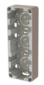 Förhöjningsram 3-fack 40mm vit