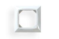 Täckram kanal 1-fack vit