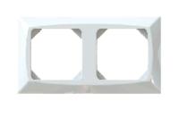 Täckram kanal 2-fack vit